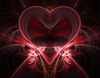 Burning and beating heart. Valentine`s day background. Greeting card. Burning and beating heart. Valentine`s day background. An abstract computer generated Royalty Free Stock Photos