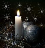 Burning big candle Royalty Free Stock Image