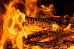 Free Burning Billets In Hot Stove Stock Photo - 89564350