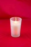 Burning blanco de la vela fotografía de archivo libre de regalías