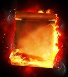Burning blank papyrus Stock Photos