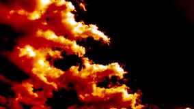 Burning Blowing Hell Fire Clouds Time Lapse Epic Cinematic stock footage
