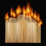 Burning board Royalty Free Stock Photos