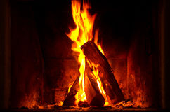 Burning bonfire Royalty Free Stock Image