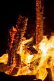 Burning bonfire Stock Image