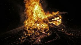 Burning bonfire Stock Photos