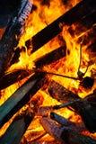 Burning Bonfire Stock Images