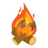 Burning bonfire icon, isometric 3d style. Burning bonfire icon. Isometric 3d illustration of bonfire vector icon for web Royalty Free Stock Photo