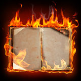 Burning book Royalty Free Stock Photography