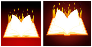 Burning book Royalty Free Stock Images