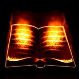 Burning book Stock Photos