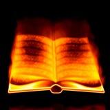 Burning book Stock Photography