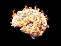 Burning brain Royalty Free Stock Photo
