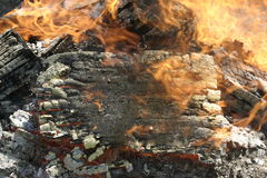 burning brand Royaltyfria Foton