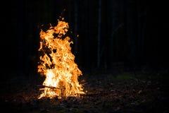 burning brand Arkivfoto