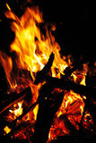 Burning brand Arkivfoto