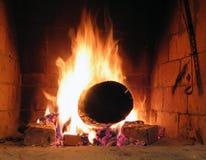 burning brand arkivfoton