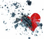 Burning Broken Heart for you Royalty Free Stock Photo