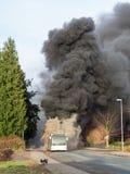 Burning bus Royalty Free Stock Images