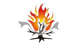 Burning Bush Technology. Logo Design Template Vector Royalty Free Stock Photo