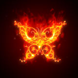 Burning butterfly. Abstract illustration - butterfly on fire Royalty Free Stock Images