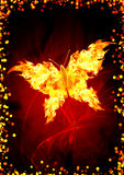 Burning butterfly. Bright flame in the form of butterfly Stock Photos