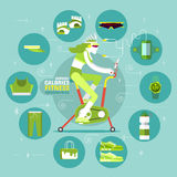 Burning Calories Fitness Infographics Royalty Free Stock Photography