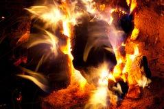 Burning campfire Royalty Free Stock Photo