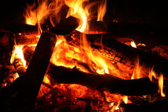 Burning Campfire Royalty Free Stock Photos