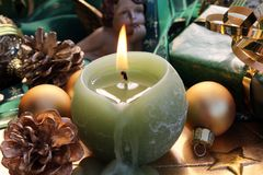 Burning candle Stock Photography