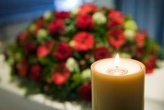 Burning candle stock image