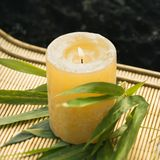 Burning candle. Royalty Free Stock Photography