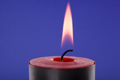 Burning candle Stock Image