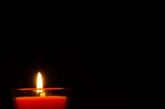 Burning candle. The Burning candle make loney Stock Images
