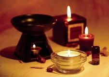 A burning candle Stock Photos