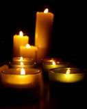 Burning Candle. A coulpe of Burning Candle Royalty Free Stock Photos