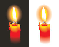 Burning candle. Photo-realistic, vector illustration Royalty Free Stock Images