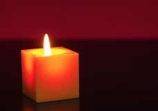 A burning candle Royalty Free Stock Photo
