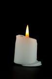 Burning candle on black background Royalty Free Stock Photo