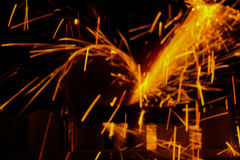 Spark spray Royalty Free Stock Images