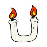 burning the candle at both ends cartoon Royalty Free Stock Photo