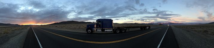 Burning a candle at both ends. Panorama of s and n 95 Hawthorne Nevada Stock Images