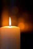 Burning candle Stock Photo