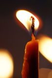Flame and light. Burning candle Royalty Free Stock Photo
