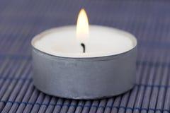 Burning candle closeup Stock Image