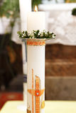 Burning candle at the communion Royalty Free Stock Image