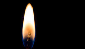 Burning Candle Flame Royalty Free Stock Photos