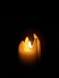 Burning candle. Royalty Free Stock Images