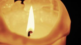 Burning candle, close up stock video