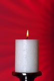 A burning candle Stock Photo